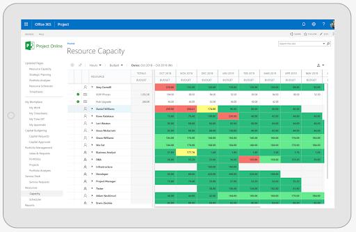 Budget-Based Resource Management Plan Screenshot