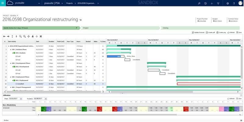 Unit4PSA screenshot - 10 Best Professional Service Software Of 2021