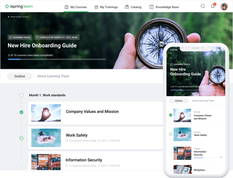 iSpring screenshot - 10 Best Learning Management Systems For 2021: Comparison